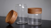 Glass/Wood Canisters