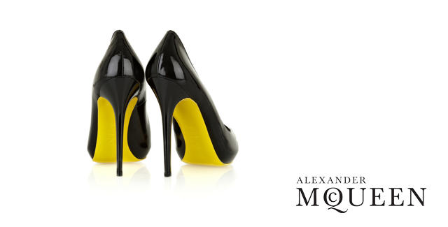 Alexander McQueen Heart Peep-Toe Pumps