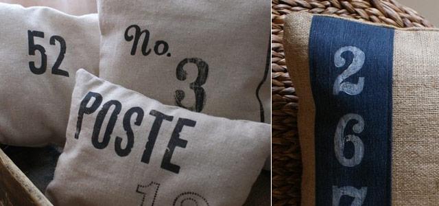 Typographic Pillows