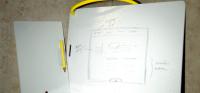 Diving Slate Board for Shower Notes