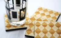 Argyle Bamboo Coasters from Masters of None